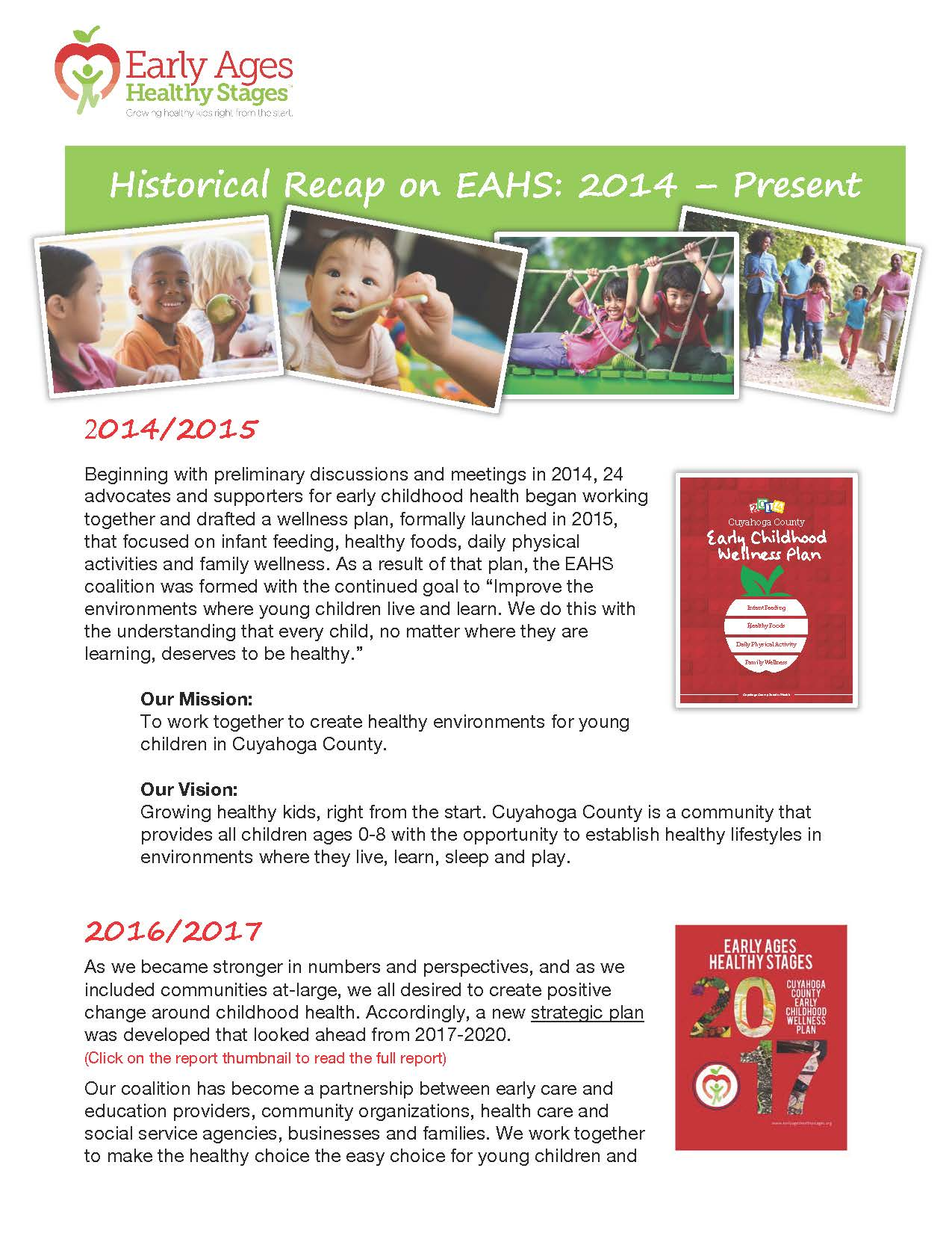 EAHS Historical Recap