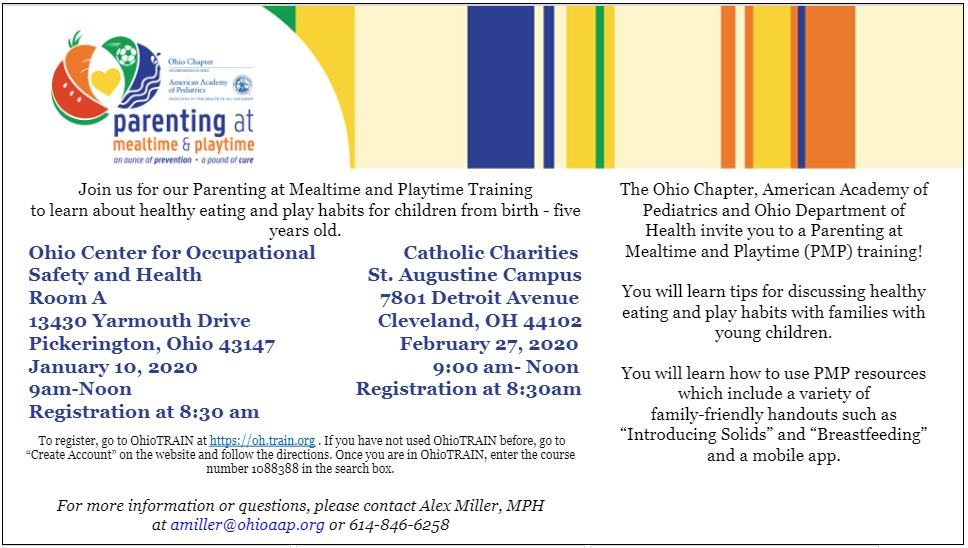 Parenting at Mealtime and Playtime Training @ Catholic Charities